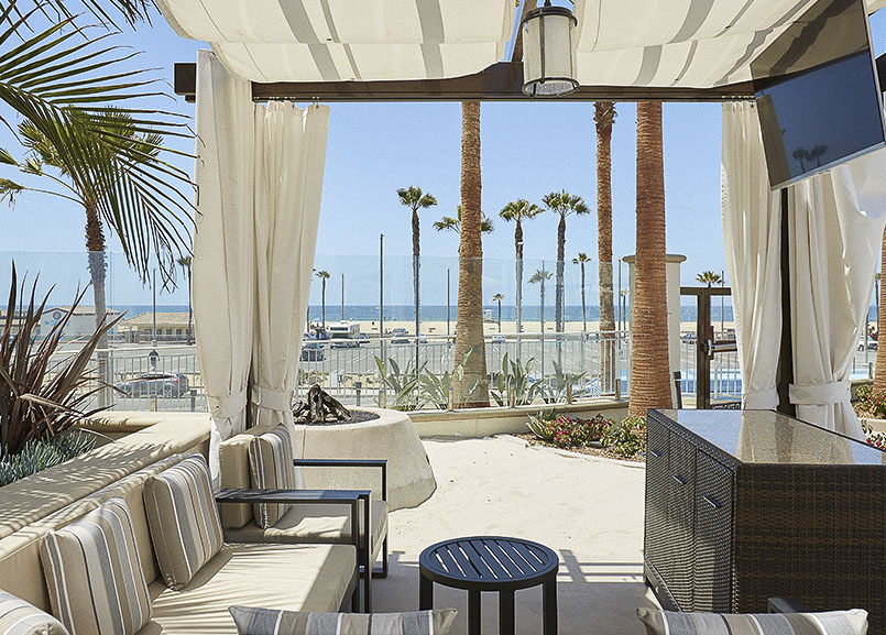 Waterfront Beach Resort, Huntington Beach offers Cabana Rentals with Butler Service