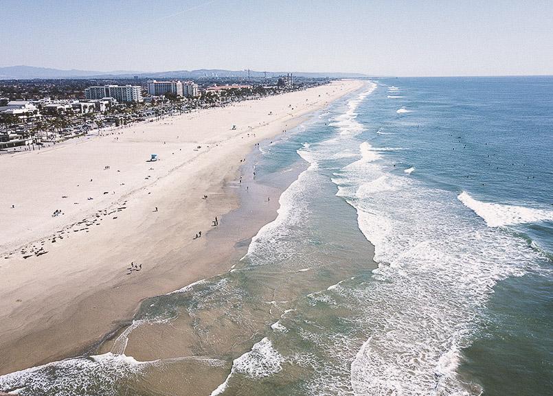 Orange County Coastline of California
