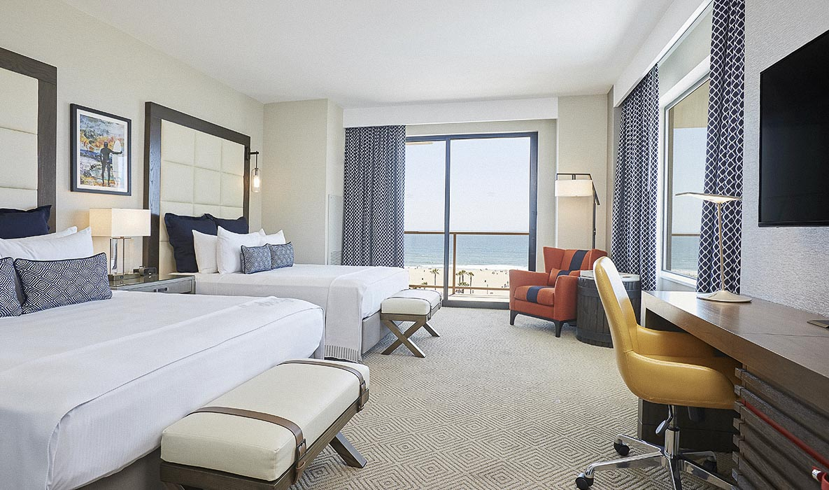 Twin Dolphin Tower Rooms in The Waterfront Beach Resort - a Hilton Hotel, Huntington Beach