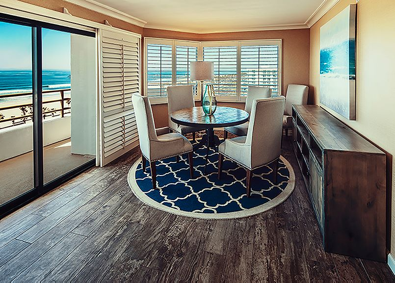 The Waterfront Beach Resort, a Hilton Hotel - Huntington Tower 1 Bedroom Deluxe Suites Snippet