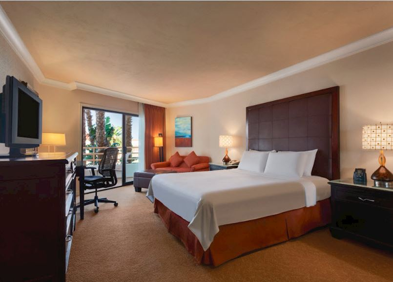 Resort View King Room at Waterfront Beach Resort - a Hilton Hotel, Huntington Beach