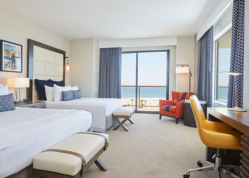 Waterfront Beach Resort - a Hilton Hotel, Huntington Beach offers Ocean Front Two Queen Bed Room
