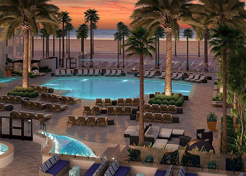 Full Closure Huntington Pool Ceremony at The Waterfront Beach Resort, in Huntington Beach