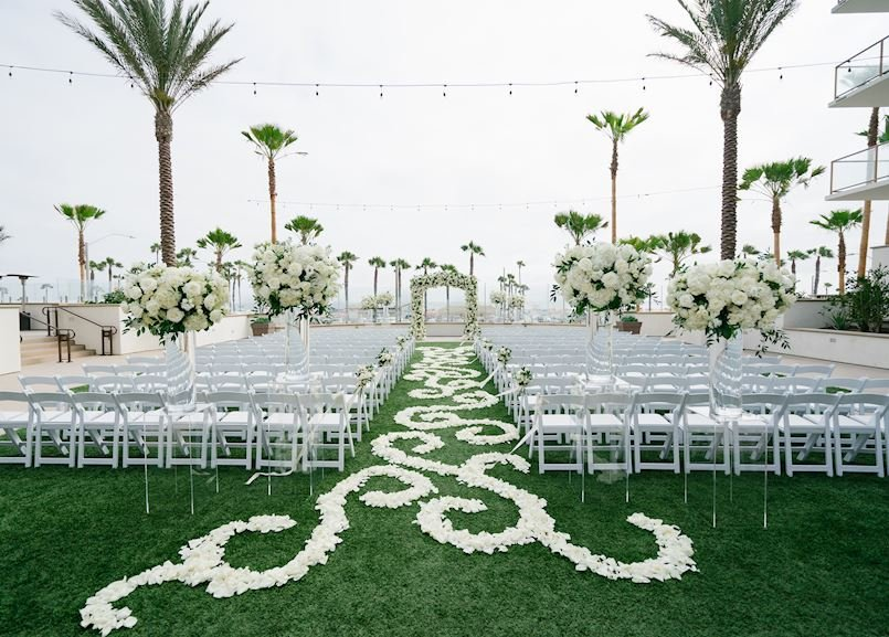 The Waterfront Beach Resort, in Huntington Beach Vista Lawn Ceremony